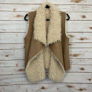 Taylor & Sage Faux Suede Fur Lined Vest